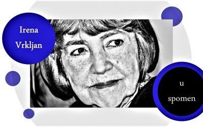 Preminula književnica Irena Vrkljan