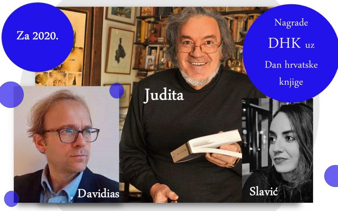 Nagrade DHK uz Dan hrvatske knjige 22. travnja 2021.